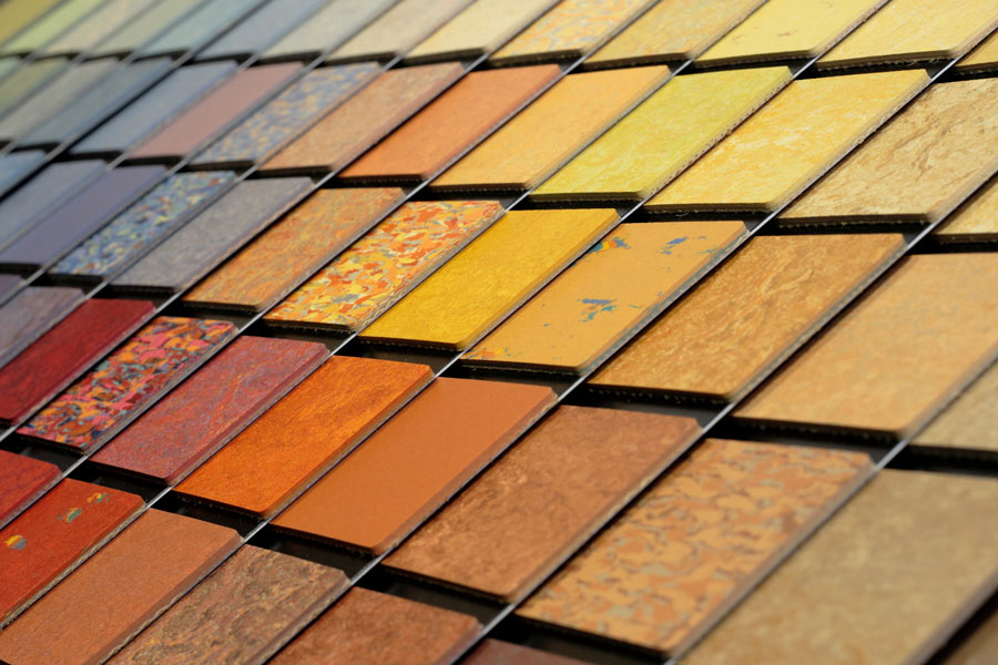 Linol Farbauswahl in diversen Abstufunge